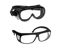 Laser and forensic LED light source goggles
